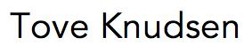Tove Knudsen